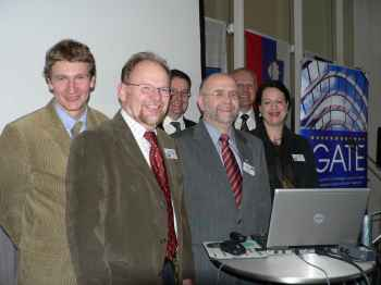 Polish and Slovenian delegates with Jon Owen Jones